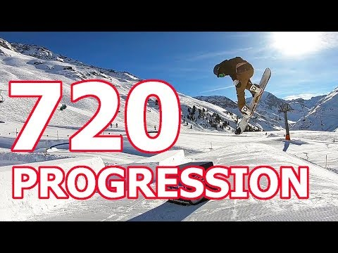 720 Snowboard Trick Progression with TJ (видео)