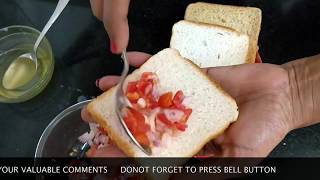 Instant Onion Tomato sandwich||प्याज़ टमाटर की सैंडविच#GTK