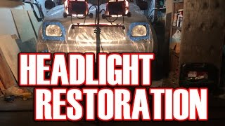 As my tacoma project continues, I'm repairing the discolored and cloudy headlights. I had all the materials laying around so I decided to do this for no cost instead of spending a lot on new housings. This can be done on or off of the car,  I did it on the car because I'm lazy lol I hope you enjoy this and my other videos, thanks for watching!The process is simple:1. Mask off the headlights so you don't sand paint or chrome2. Wet sand the lenses using straight lines, not circles using 600 then 800 grit sand paper, cleaning often.3. put a plastic cover over the front of the vehicle and cut out holes for the headlights.4. clean the headlight area very good with alcohol or similar product.5. Lightly apply the first coat of UV resistant, plastic high gloss clear coat. 6. Apply additional coats in 10 minute intervals.Let dry for 10 minutes after final coat and take off the masking tape.7. let the paint dry (cure) for a few days.