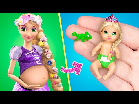 15 DIY Baby Doll Hacks and Crafts / Miniature Baby, Crib, Diapers and More!