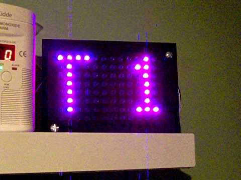 RGB LED Matrix Clock