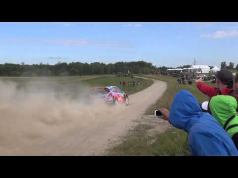 71.Rally Poland - shakedown - Paddon - on the limit