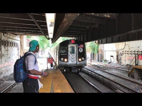 NYC Subway HD 60fps RARE: Kawasaki R160B N Train Via Brighton @ Newkirk Plaza (6/29/17) (видео)