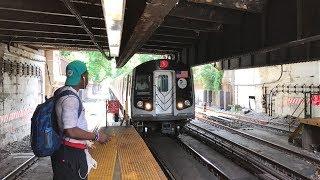 NYC Subway HD 60fps RARE: Kawasaki R160B N Train Via Brighton @ Newkirk Plaza (6/29/17)