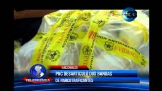 PNC desarticula dos bandas de narcotraficantes