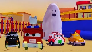 Video The Car Patrol: fire truck and police car and Ghost scaring the babies in Car City Special HALLOWEEN MP3, 3GP, MP4, WEBM, AVI, FLV Desember 2017