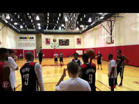 Houston Rockets end camp practice with free throw drills