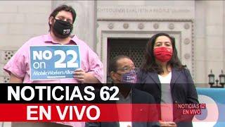 Políticos De Los Ángeles rechazan la proposición 22 – Noticias 62 - Thumbnail