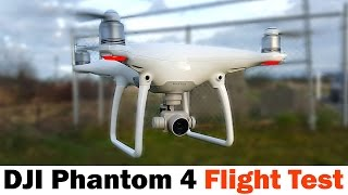 Here is our Flight Test for the DJI Phantom 4. More info on Phantom 4: http://bit.ly/1SyrB7O http://amzn.to/1SbomBg Review coming soon! Follow Me on Twitter ...