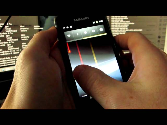 supercurio Galaxy S running Nexus S kernel and gingerbread switch off animation
