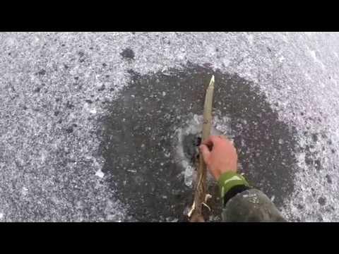 Трудовые жерлицы. Ловим щуку в феврале. Видео отчет от 6.02.2015 г.