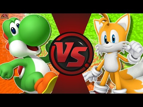 YOSHI vs TAILS! (Mario vs Sonic) Cartoon Fight Club Episode 171 (видео)
