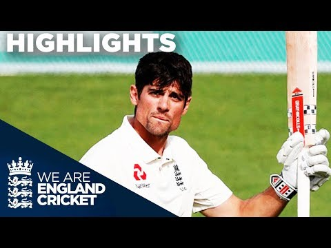 Cook Hits Emotional Century In Final Ever Innings | England v India 5th Test Day 4 2018 - Highlights (видео)