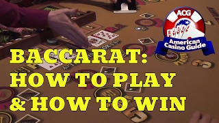 Gambling author, Steve Bourie, explains how to play and how to win at baccarat. Topics covered include: the rules of the game, the bets that can be made; the casino's advantage on those bets; which bet is the worst and should never be made; the best strategy for winning at baccarat; a look at a baccarat betting system; and much more. Play FREE social casino slots - http://www.americancasinoguide.com/play-free-slots These slots are only for fun and no money is involved. All new players get FREE BONUS CHIPS!Get more than 200 casino coupons and save more than $1,000 - http://www.americancasinoguide.com/order-now.html .SUBSCRIBE for more videos: http://bit.ly/1G4l0xvTips on Blackjack: http://y2u.be/5ki_92QrqfITips on Slot Machines: http://y2u.be/7Wkubf1PrWgTips on Craps: http://y2u.be/7daSiVupvmYTips on Video Poker: http://y2u.be/gLYQ3ZIowPAFor the latest news and insights on casinos visit: http://blog.888casino.com/