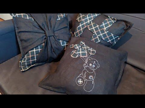 Декоративные подушки вышитые лентами свои… видео