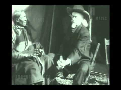 Buffalo Bill Cody and unknown Native American in this priceless American Wild West historical video.