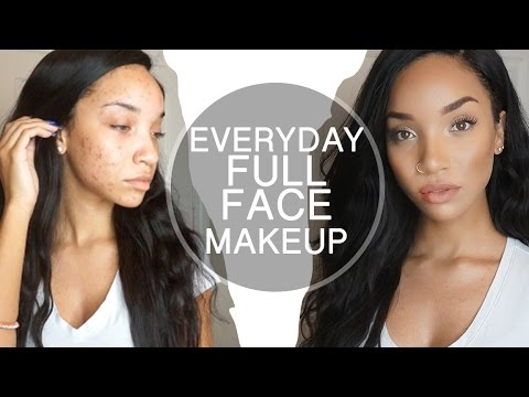 MAKEUP| Glowing Full Face (Acne Coverage Routine) | RAVEN ELYSE