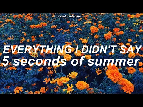 Everything I Didn't Say - 5 Seconds Of Summer // Lyrics