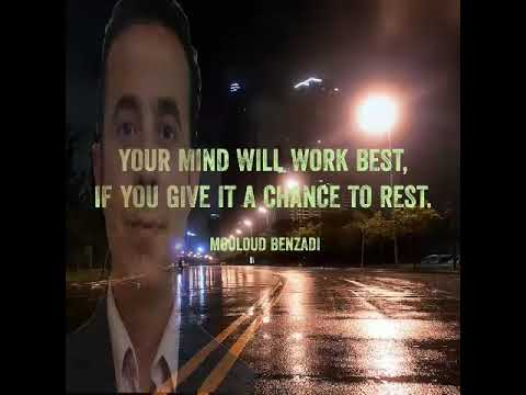 Quote of the day about mind, brain, rest, best, chance