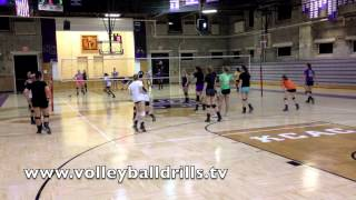 2 Setter Hitting with serve. Questions on how to run this one, send us a message.Thanks for watching!