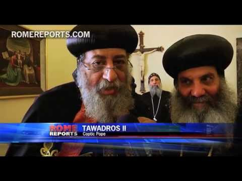 pope - http://en.romereports.com Coptic pope, Tawadros II, was in Rome for a four day visit. After several gatherings at the Vatican, he concluded his visit with a ...