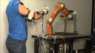 Integrating Wearable Haptics and Teleimpedance Methods for Augmented Human-Robot Interaction