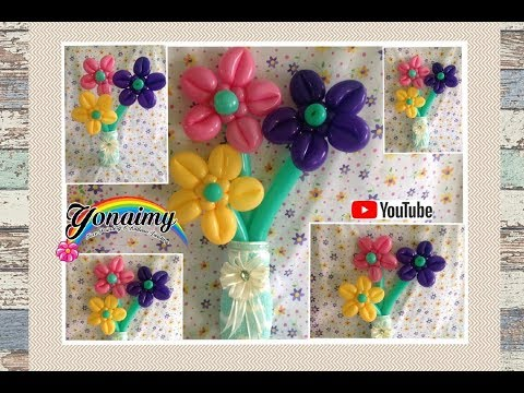 FLORES CON LOS PETALOS HACIA ENFRENTE.- HOW TO MAKE  FLOWERS .