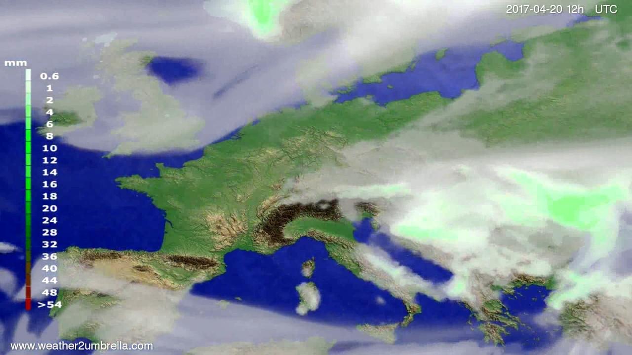 Precipitation forecast Europe 2017-04-18