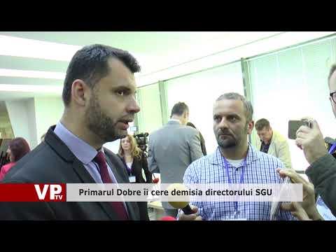 Primarul Dobre îi cere demisia directorului SGU