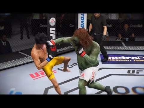 Ghoul Vs. Bruce Lee (EA Sports UFC 3) - CPU Vs. CPU