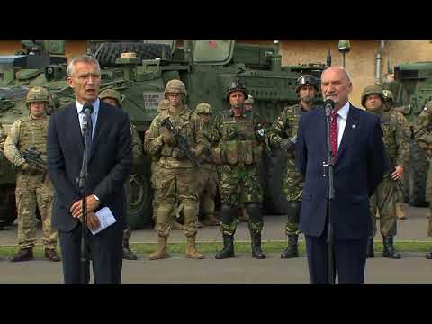 NATO Secretary General press point with Polish Defence Minister