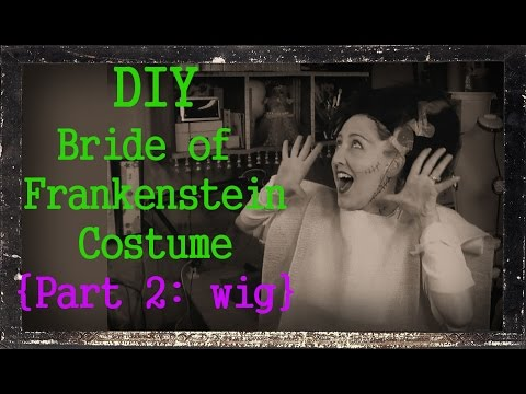 Diy bride of frankenstein costume wig costume makeup the diy bride of frankenstein costume wig costume makeup the frugal crafter blog solutioingenieria Image collections