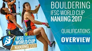 IFSC Climbing World Cup Nanjing 2017 - Qualifications Overview by International Federation of Sport Climbing