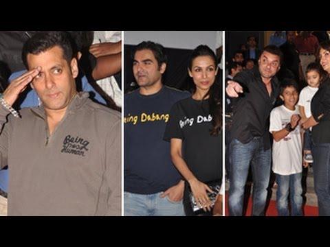 Salman Khan, Arbaaz, Sohail at 'Being Human' launc