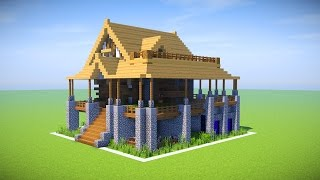 MINECRAFT BIG SURVIVAL HOUSE TUTORIAL!!! [How To Make A Survival Mansion]