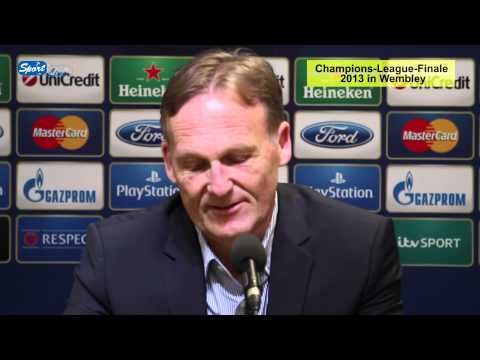 bvb - Dortmund, 15.05.2013: Hans-Joachim Watzke, Vors. der Geschftsfhrung von Borussia Dortmund, und Sportdirektor Michael Zorc sprechen ber die Entwicklung der...