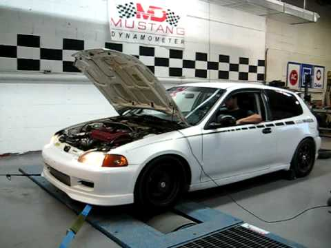 Jeff's EG Type-R Turbo On Dyno - AEC
