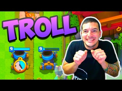 Clash Royale TROLLING PLAYERS!! (видео)