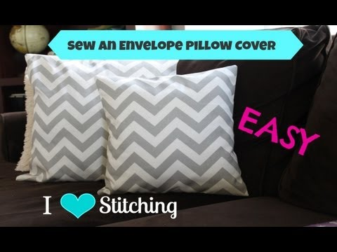 pillow - This video shows you all the steps to make and sew your own envelope pillow case cover. All the measurements are below for standard pillow forms. Etsy Shop: ...
