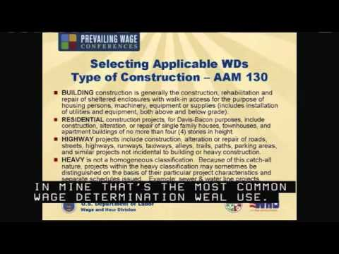 Department of Labor Prevailing Wage Conference (Davis-Bacon Act Part 1)