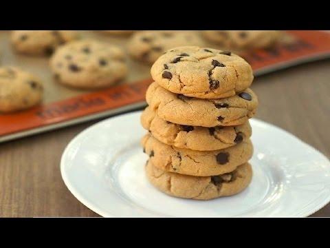 biscotti cookies con gocce di cioccolato - la video ricetta