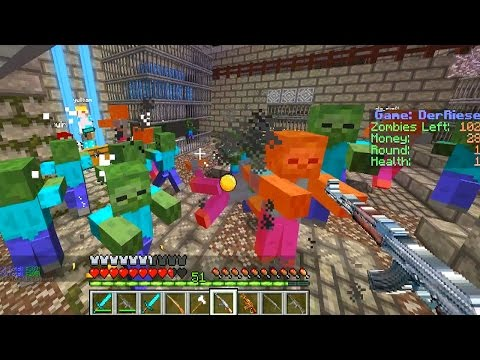 survival - Minecraft COD Zombies - Minecraft Zombie survival! Server: hub.ecb-mc.net Follow me on TWITTER: http://twitter.com/#!/Vikkstar123 Like my Facebook Page: http://www.facebook.com/Vikkstar123...