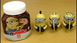 I use the minions Nutella and Bananas and minions Cookies to create some sort of ice cream dish.