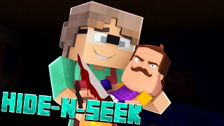KILLER BABY NEIGHBOR?! Minecraft Hello Neighbor HIDE N SEEK