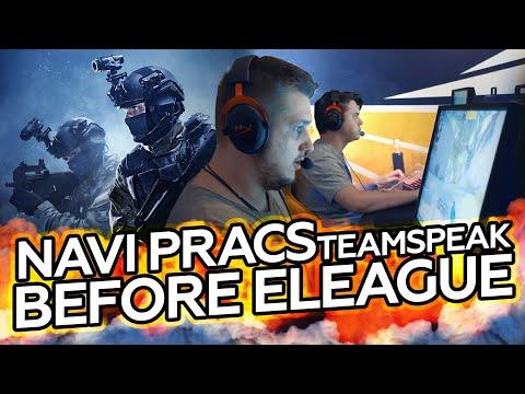 NAVI pracs Teamspeak before ELEAGUE
