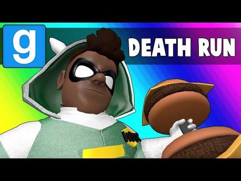 Gmod Death Run Funny Moments - Vanoss Superhero School Training! (Garry's Mod) (видео)