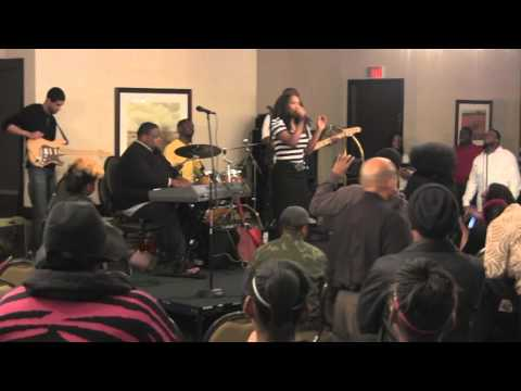 Damita Haddon performing at 2012 Worship service