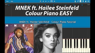 MNEK - Colour ft. Hailee Steinfeld Piano Tutorial (EASY)