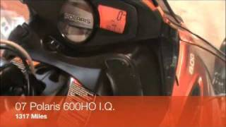 9. 07 Polaris 600HO IQ For Sale
