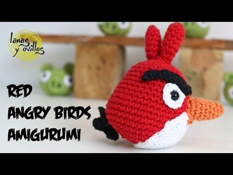 Tutorial Angry Birds Rojo Amigurumi Red 2 de 2 (English ...